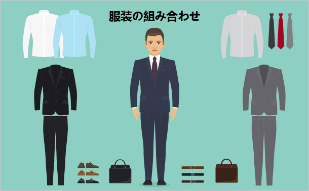 服装の組み合わせ
