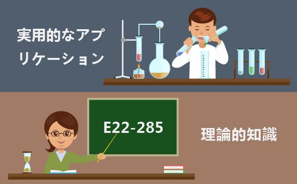 E22-285 理論的知識&実用的なアプリケーション
