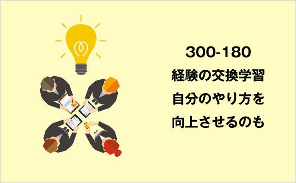 さまざまな方法で300-180の知識を得る