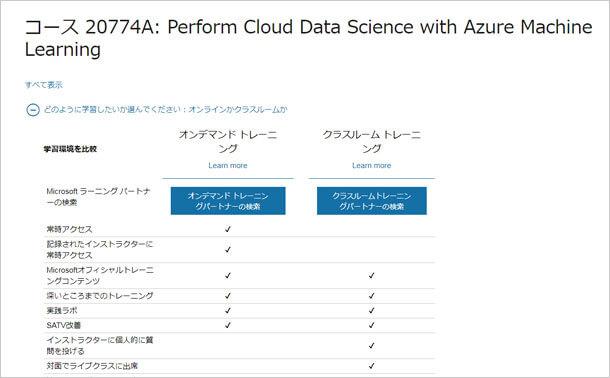 レッスン2074 A : アズチャーの機械を使って雲のデータの科学を実行する